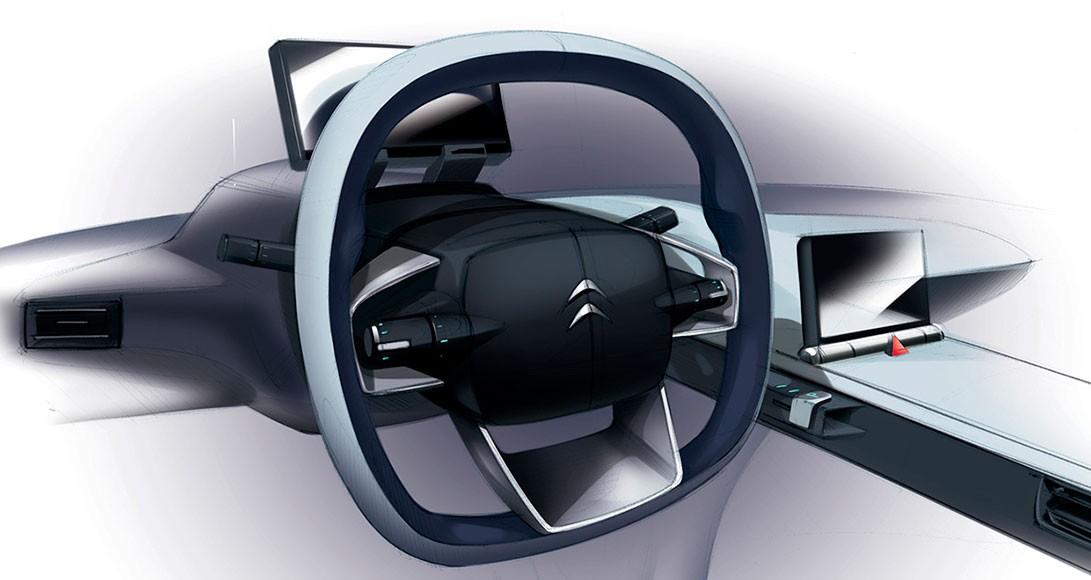 Design d'intérieur d'auto pour Citroen