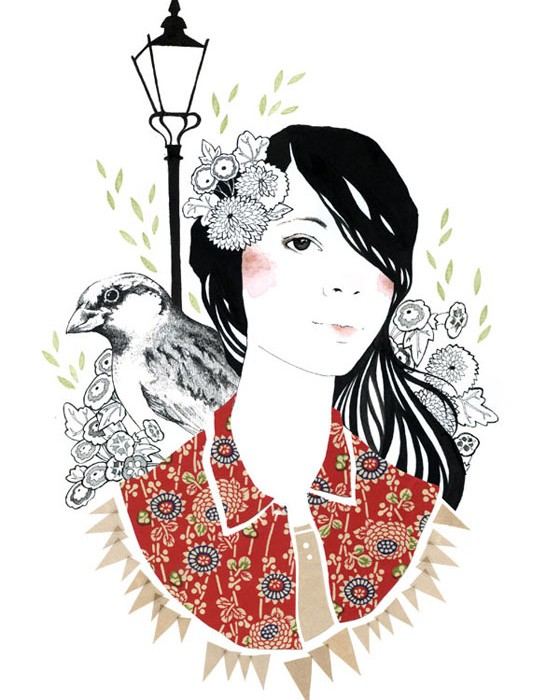Drawings and digital collages by Catherine Campbell