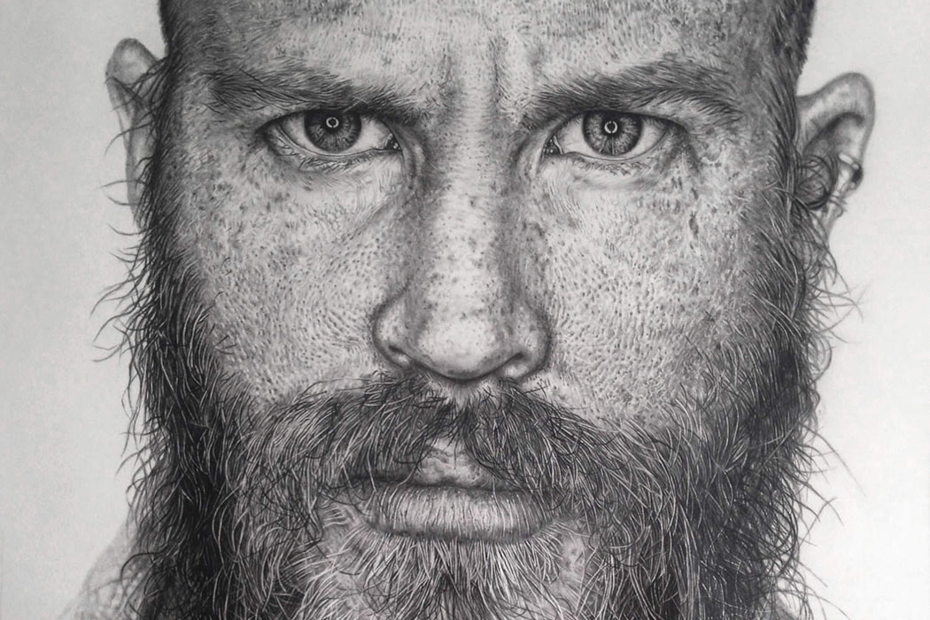 Hyper-Realistic Graphite Drawings by Monica Lee