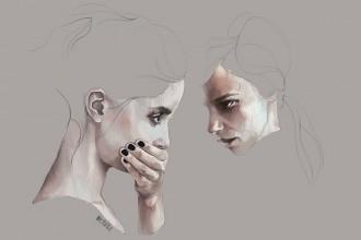 Dynamic sketchy illustrations by Agata Wierzbicka