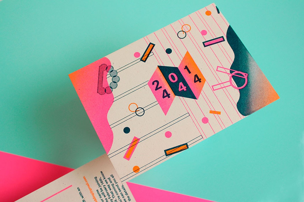 Bold colorful and geometric design by Marta Veludo
