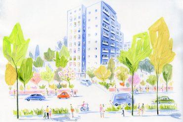 Parisian illustration style by Dominique Corbasson