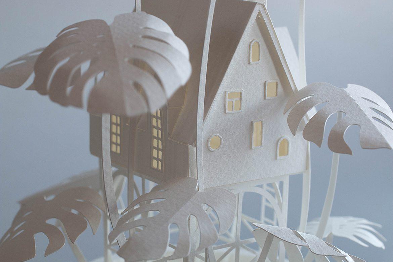 Paper and wood craft by Vera van Wolferen
