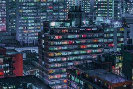 Fragments: night city lights by Elsa Bleda