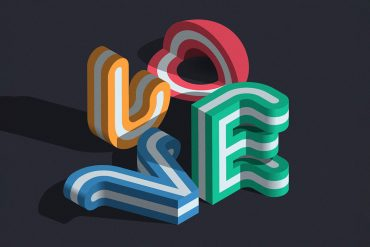 Graphic typography by Mario De Meyer
