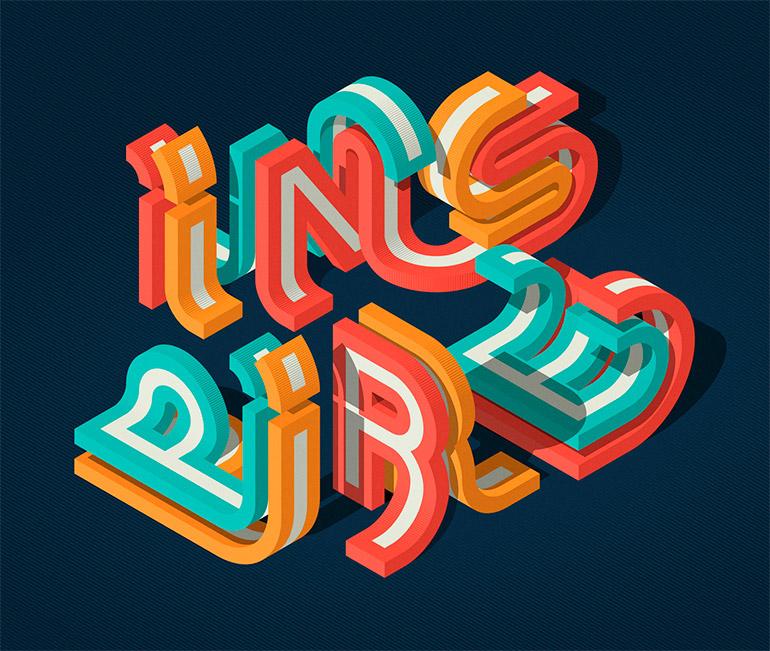 Graphic typography by Mario De Meyer
