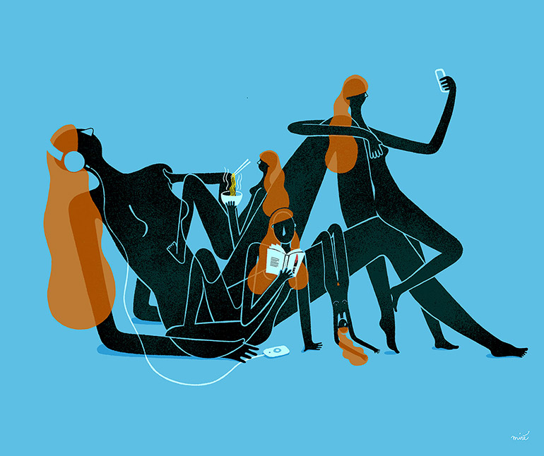 Lockdown illustrations by Miré