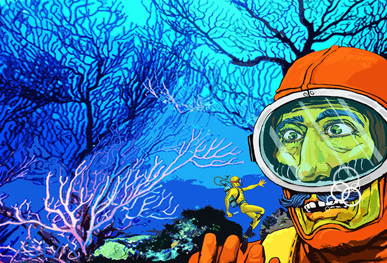 Underwater illustrations by Marina Cochet