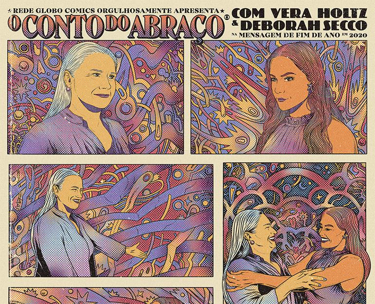 Textured illustrations by Caramurú Baumgartner